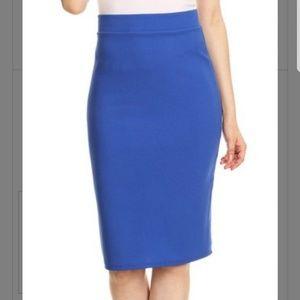 816b1522ff Nema Avenue. Plus Size Royal Blue Pencil Skirt